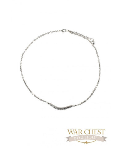 Silver Bar Station Necklace for Women - Jewelry - WAR Chest Boutique