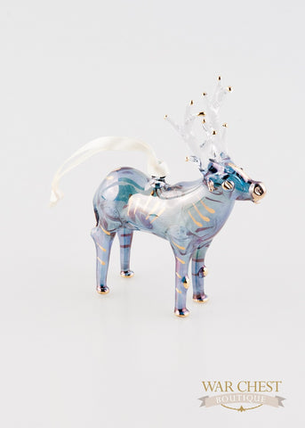 Elk Ornament Blue
