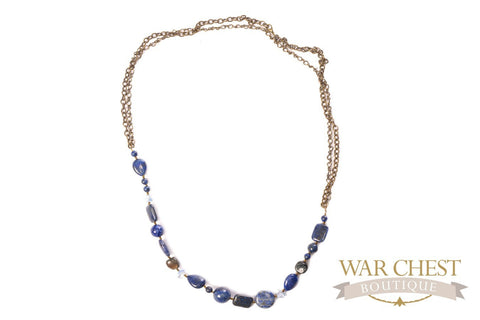 Lapis Chain Necklace for Women - Jewelry - WAR Chest Boutique