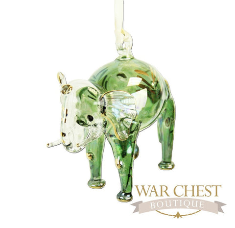 Elephant Ornament Green
