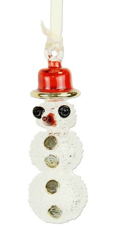 Frosted Snowman Ornament - Ornaments - WAR Chest Boutique