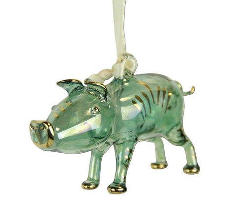 Pig Ornament Green - Ornaments - WAR Chest Boutique