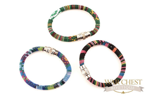 Fabric Cord Bracelet: Colors Vary