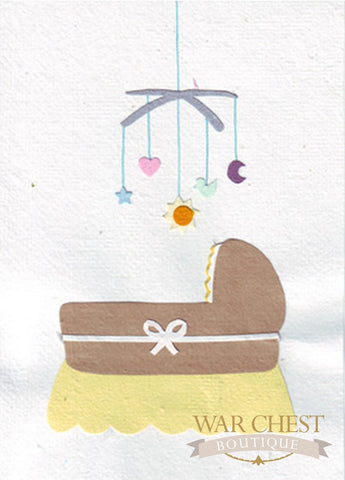 Cradle Congratulations Card