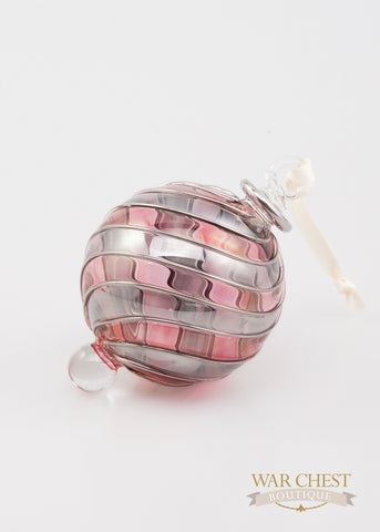 Beribboned Red & Silver Ornament - Ornament - WAR Chest Boutique