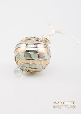 Beribboned Green & Gold Ornament - Ornaments - WAR Chest Boutique
