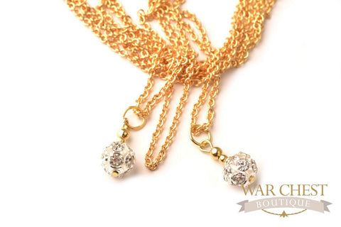 3 Tier Sparkle Globe Necklace