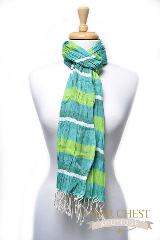 Pallavi Green Stripes Scarf