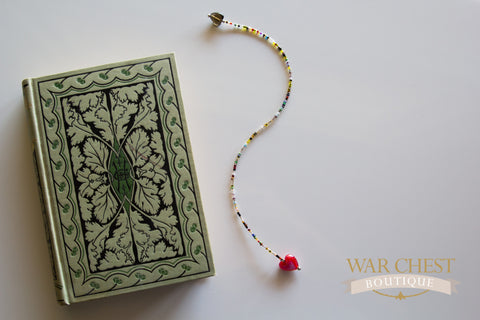 Red Heart Multicolor Bookmark