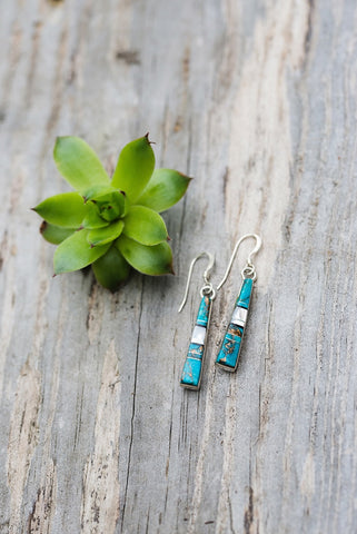 Inlaid Turquoise Earrings