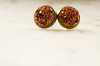 Sunset Druzy Post Earrings