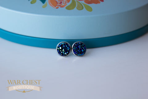 Twilight Druzy Post Earrings
