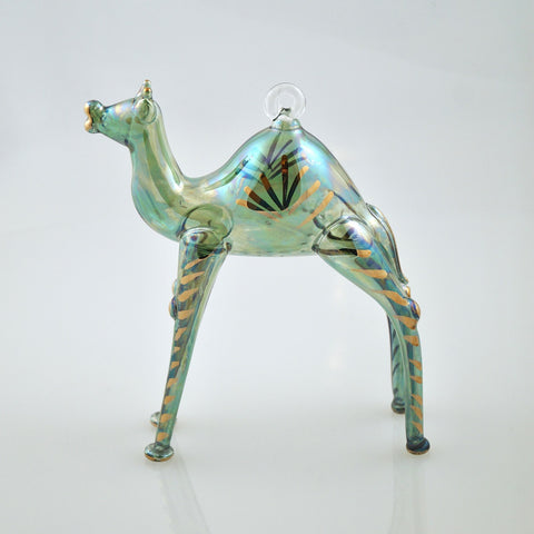Camel Ornament in Green - Ornaments - WAR Chest Boutique