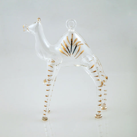 Camel Ornament in Clear - Ornaments - WAR Chest Boutique