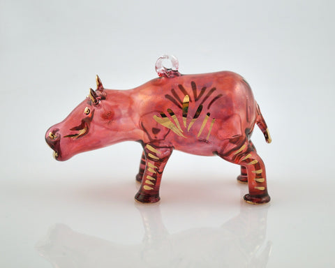 Hippo Ornament Red - Ornaments - WAR Chest Boutique