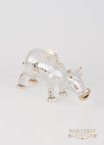 Hippo Ornament Clear