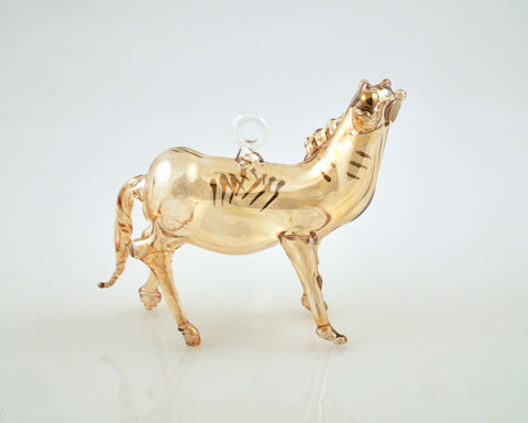 Horse Ornament Yellow - Ornaments - WAR Chest Boutique