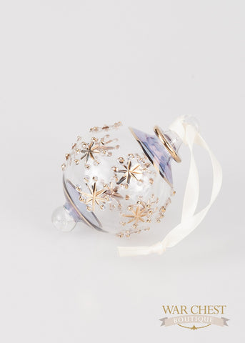 Snowflake Ball Ornament in Blue - Ornaments - WAR Chest Boutique