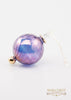 Beveled Ball Ornament Purple