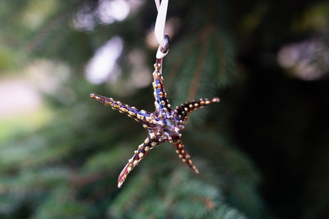 Starfish Ornament Red