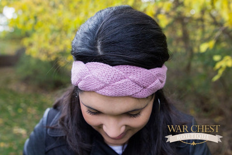 Rose Braided Winter Headband