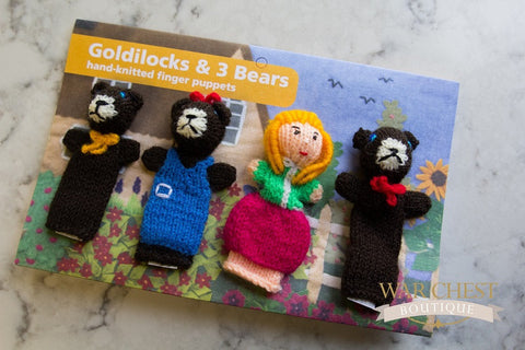 4 Finger Puppet Set Goldilocks
