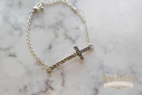 Sparkle Cross Bracelet