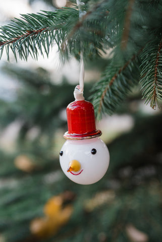 Snowman Red Hat Ornament - Ornaments - WAR Chest Boutique