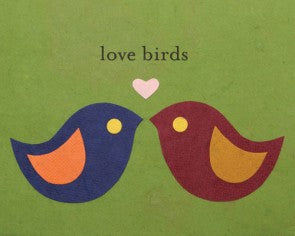 Modern Love Birds Card