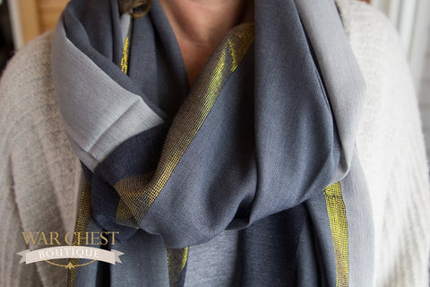 Savvy In Slate Scarf