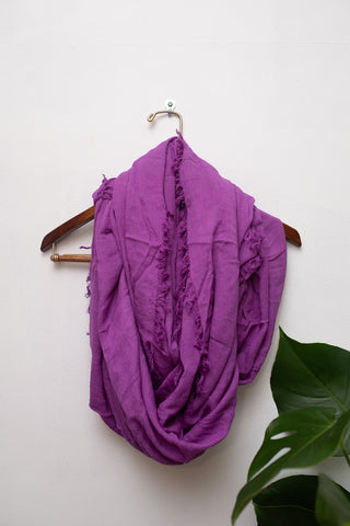 Orchid Infinity Fringe Scarf