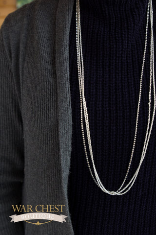Silver Box & Chain Necklace