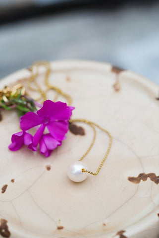 Simple Single Pearl Necklace