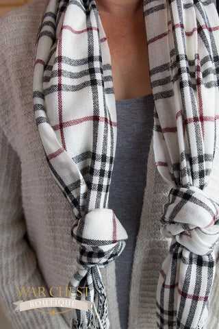 Emerson Plaid Fringe Scarf