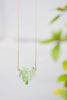 Green Quartz Bar Necklace