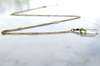 Long Mint Crystal Necklace