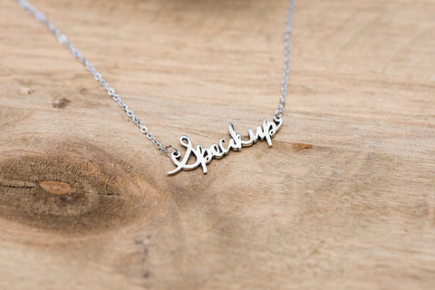 Sterling Speak Up Necklace
