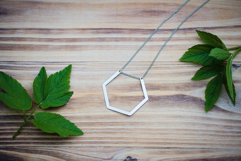 Hanging Hexagon Necklace