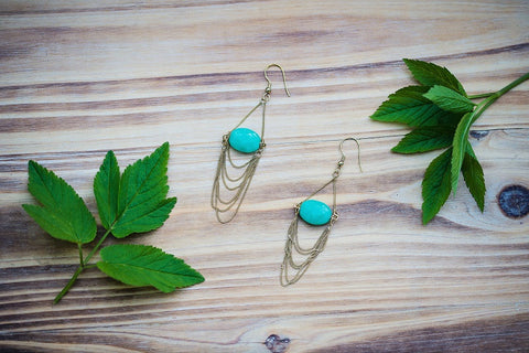 Off the Chain Earrings Aqua