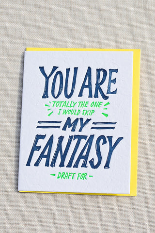 Fantasy Draft Love Card