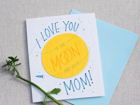 Moon and Back Mom Card