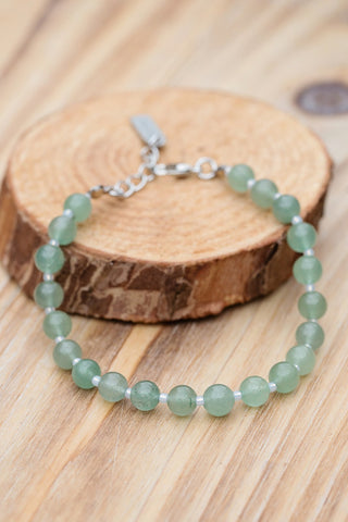 Green Aventurine Bracelet for Women - Jewelry - WAR Chest Boutique