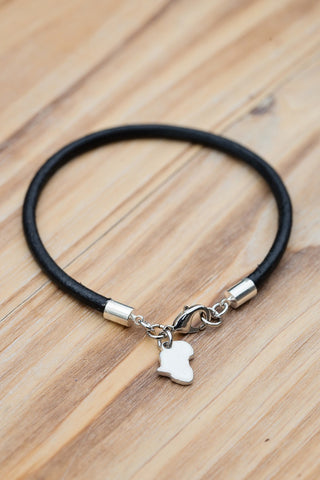 Africa Charm Leather Bracelet