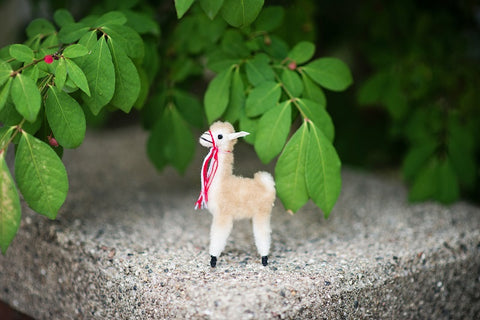 Small Stuffed Alpaca Vicuna