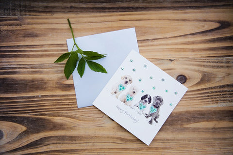 Birthday Puppies Card