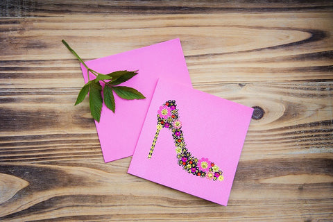 Flower Shoe Card