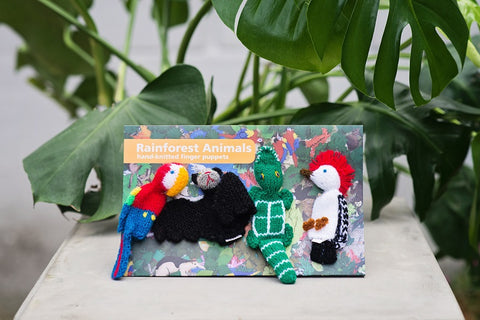 4 Finger Puppet Set Rainforest