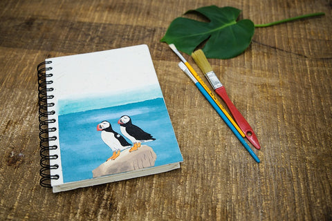 Large Puffin Notebook