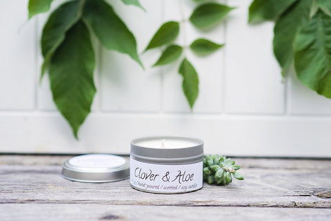 Clover & Aloe Spa Candle