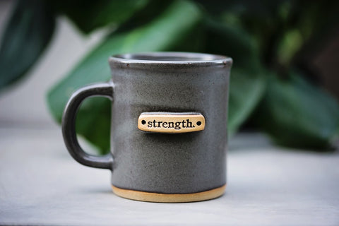 Strength Mug Steel Gray - Home Decor - WAR Chest Boutique